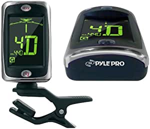pyle pro pgt20 clip on tuner for guitar bass violin chromatic musical instruments. Black Bedroom Furniture Sets. Home Design Ideas