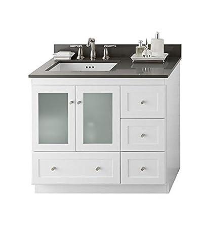 Ronbow Essentials Shaker 36 Inch Bathroom Vanity Cabinet Base In
