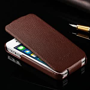 Genuine Leather Flip Case for iPhone 4 4S 4G Vintage Phone bag New 2015 Original FASHION Brand Ultra Thin Design --- Color:red