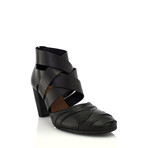 Zippered Women Sandals - 8100 Melrose Leather Closed Toe Back Zippered Sandal