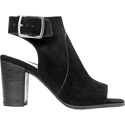 Vionic Women's Perk Blakely Open Toe Slingback Heel - Ladies Peep Toe Booties with Concealed Orthotic Support