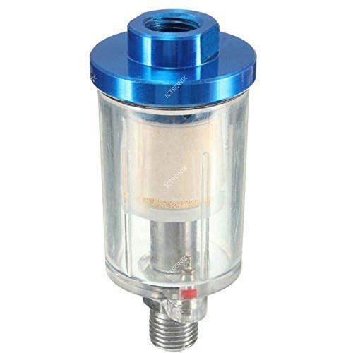 ICTRONIX 1//4 Druckluft Mini Wasserabscheider Luftfilter Abscheider z.B f/ür Lackierpistole