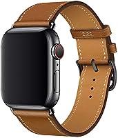 XCool Bracelet Apple Watch 38mm 40mm, Cuir Rose Rouge Double Tour Bande de Remplacement iwatch Series 4 Series 3 Series 2...