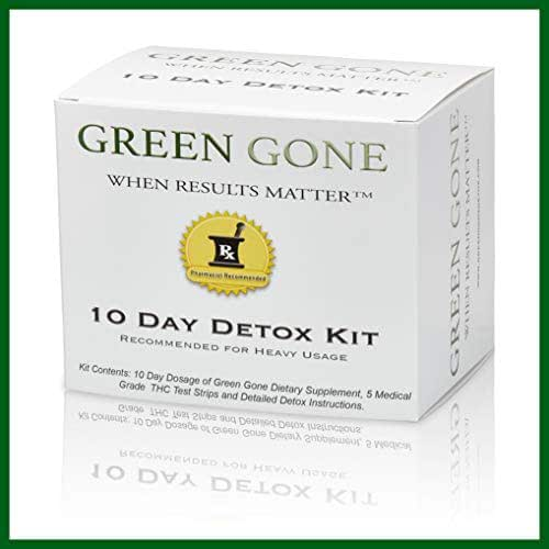 Green Gone 10 Day Detox Kit - Permanent Cleanse, (for Heavy Usage) with 5 Test Strips