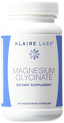 Klaire Labs Magnesium Glycinate Capsules, 100 mg, 100 Count