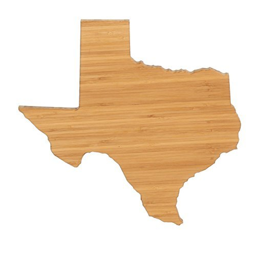 Cutting Board Company Texas Shaped Cutting Board, Bamboo Cheese Board (Unique Gift Baskets Dallas Texas)