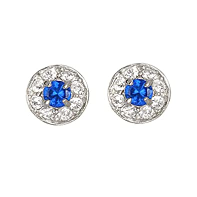 12146d9df Image Unavailable. Image not available for. Color: Studio 925 Belotti  Montana Sapphire CZ Sterling Silver Earrings