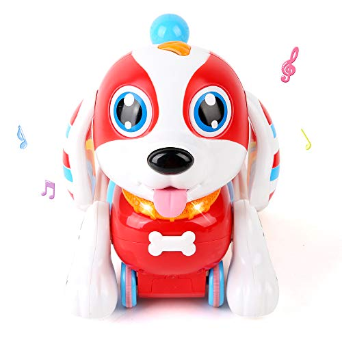 LBLA Electronic Pet Dog Interactive Puppy - Robot Harry Responds to Touch, Walking, Chasing and Fun Activities