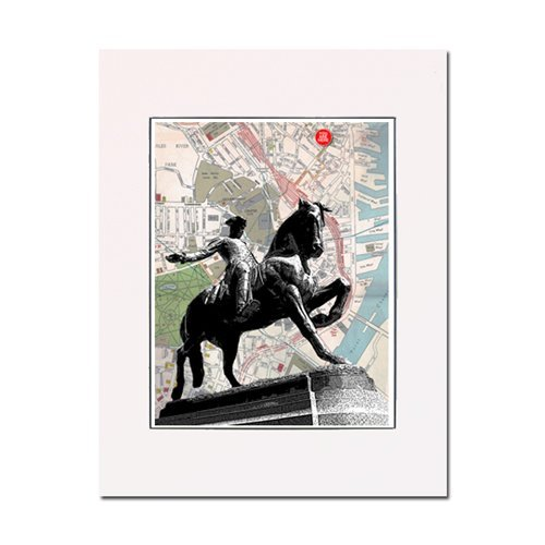 Freedom Sculpture - Boston, Paul Revere, Freedom Rider sculpture fine art print. Enhance your home or office. Gallery quality. Matted and ready-to-frame.