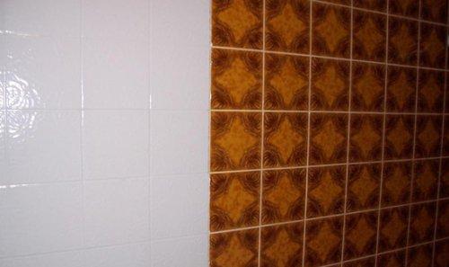 Fliesen Farbe 6 dosen fliesenlack cremeweiß fliesenfarbe 6 x 750 ml amazon de