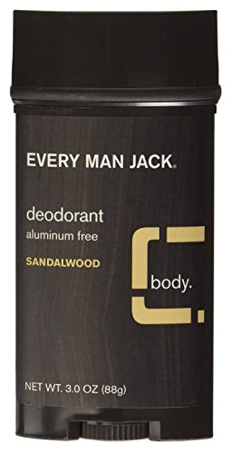 Every Man Jack Deodorant 3oz Sandlewood Aluminum-Free (2 Pack)