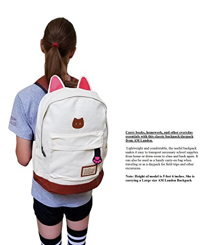 6766fa07a6f AM Landen CAT Ears Backpack Kid Backpack Travel Daypack Handbag ...