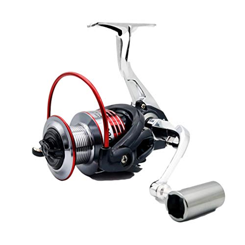 LLCOFFGA Fishing Reels 13+1BB Metal Bearing Alloy Wire Cup Strengthen Gear Folding Interchangeable Rocker Arm Spinning Wheel Fish Wheel for Saltwater and Freshwater Fishing,3000