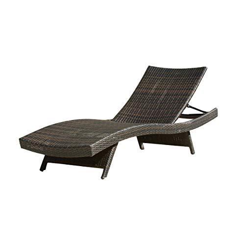 Christopher Knight Home Salem Outdoor Brown Wicker Adjustable Chaise Lounge
