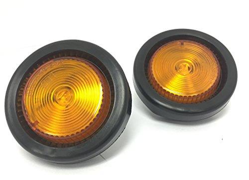 MaxxHaul 80652 LED Round Side Marker Light Amber with Grommet Trailer Truck RV-2 Pack
