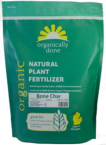 Organically Done Bone Char (0-16-0) (5 lb) - Rich in Calcium Phosphate - Water Retaining