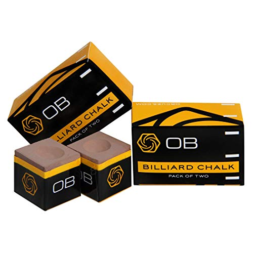 OB Pool cue Premium Billiard Chalk - Tan - 2 pcs