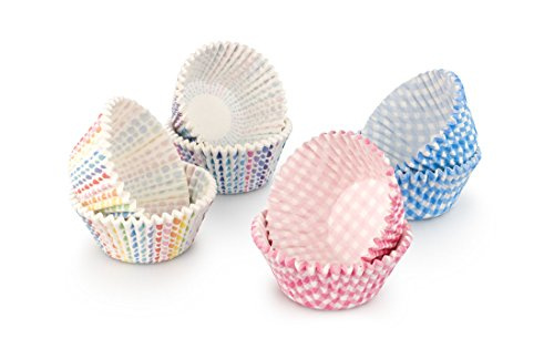 Tala Grease Proof Paper Design Cupcake Cases, Set of 4, Assorted Colours
