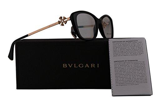 Bvlgari BV4145B Eyeglasses 55-17-140 Shiny Black w/Demo Clear Lens 501 BV 4145B - Eyewear Bulgari
