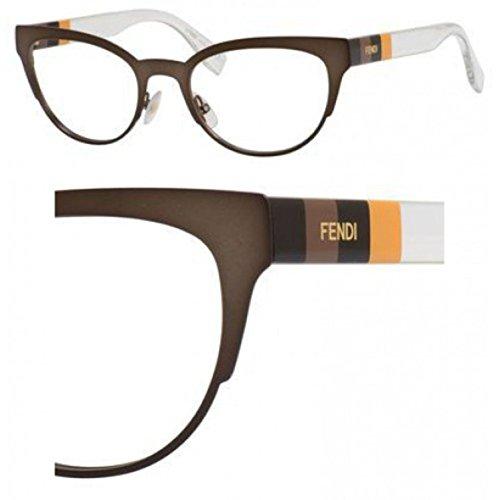 Fendi Montures de lunettes 0081 Pour Femme Black / Crystal E1H: Brown / Crystal