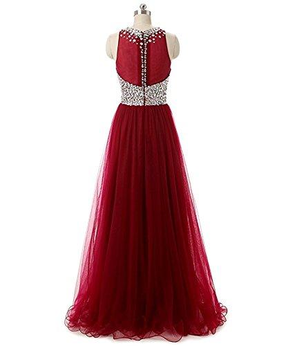 Blau Braut Tuell Festlichkleider Promkleider Damen A Abendkleider Prinzess Ballkleider Weinrot La Royal Rock mia Linie wFpq51x6