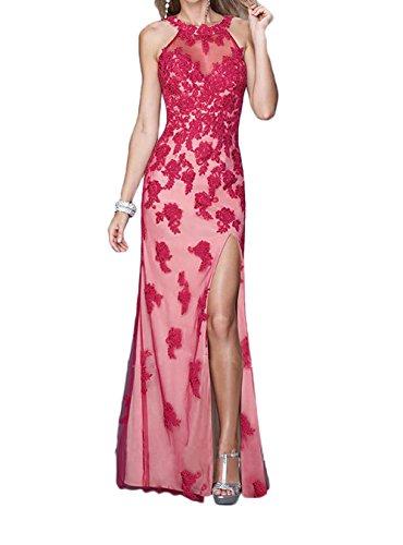 Promkleider Applikation Figurbetont Trumpet Blau Spitze Royal Rot Abendkleider La mit Marie Partykleider Braut xXPgq8Xn