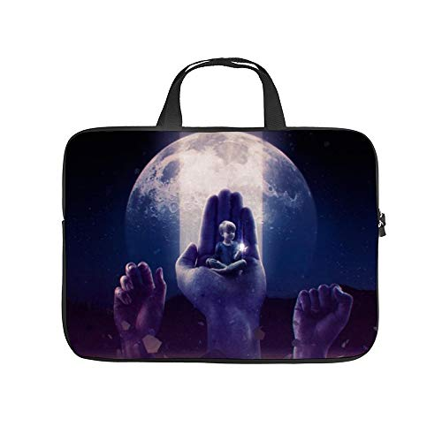 Moon Light Sky Purple Atmosphere Night World,Universal Laptop Computer Tablet,Bag,Cover for,Apple/MacBook/HP/Acer/Asus/Dell/Lenovo/Samsung,Laptop Sleeve,32x24x1.5cm