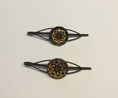 Fabulici Bronze Mandala Art Pins Pack includes 2 Style Caboc