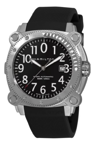 Hamilton Men's H78555333 Khaki Navy BelowZero Black Dial Watch