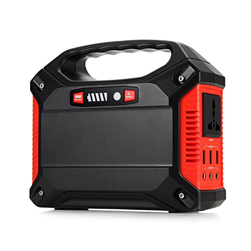 Price comparison product image TTLIFE Portable Generator Power Inverter 42000mAh 155Wh Rechargeable Battery Pack Emergency Power Supply, 110V AC Outlet 3 DC 12V USB Port