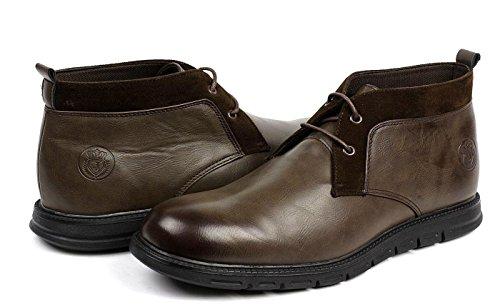 JAS Mode Herren Schnürer Chelsea Knöchel Komfort Retro Stiefel Lässig Elegant Office Schuhe Kaffee