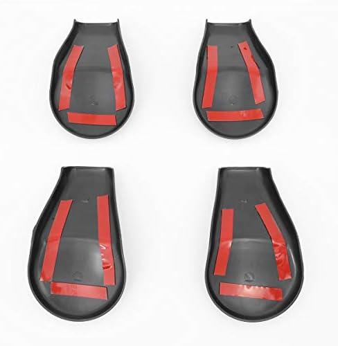 DNA Motoring ZTL-Y-0077 4Pcs Front Seat Bracket Fixing Bolt Cover Trims Cap Set