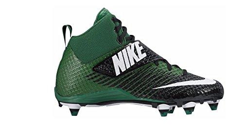 - Nike Mens Lunarbeast PRO TD Football Cleats (10 D(M) US, Black/White-Pine Green)