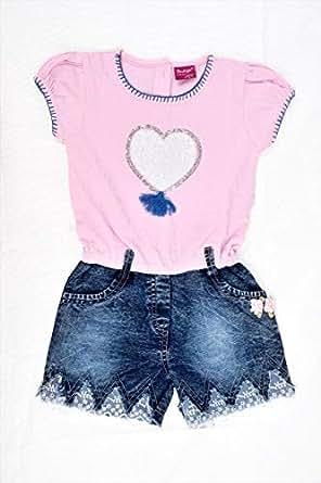 Flower Girl Girls Stylish Jumpsuit, Pink