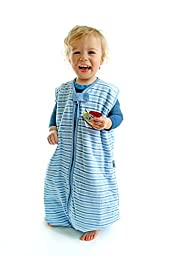 SlumberSafe Baby Sleeping Bag with Feet 2.5 Tog Blue Stripes 12-18 mths