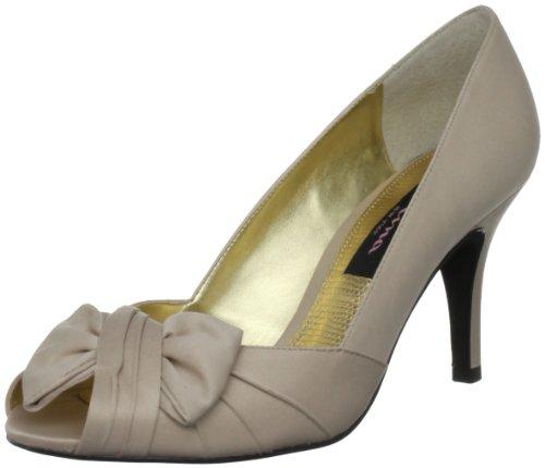 - Nina Women's Forbes Satin Peep-Toe Pump,Powder Sand Luster,10 M US