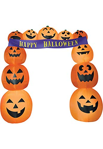 Gemmy 8.5' Airblown Archway Pumpkins Banner Halloween Inflatable for $<!--$89.99-->