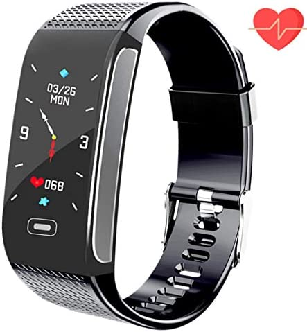 Hocent Fitness Tracker HR Activity Smart Watch with Pedometer Heart Rate Monitor Step Calorie Tracker Waterproof IP67 Call SMS SNS Alert Stopwatch for Men Women Teens Compatible for Android and IPhone