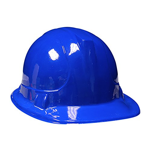 Blue Kids Party Construction Hats (12