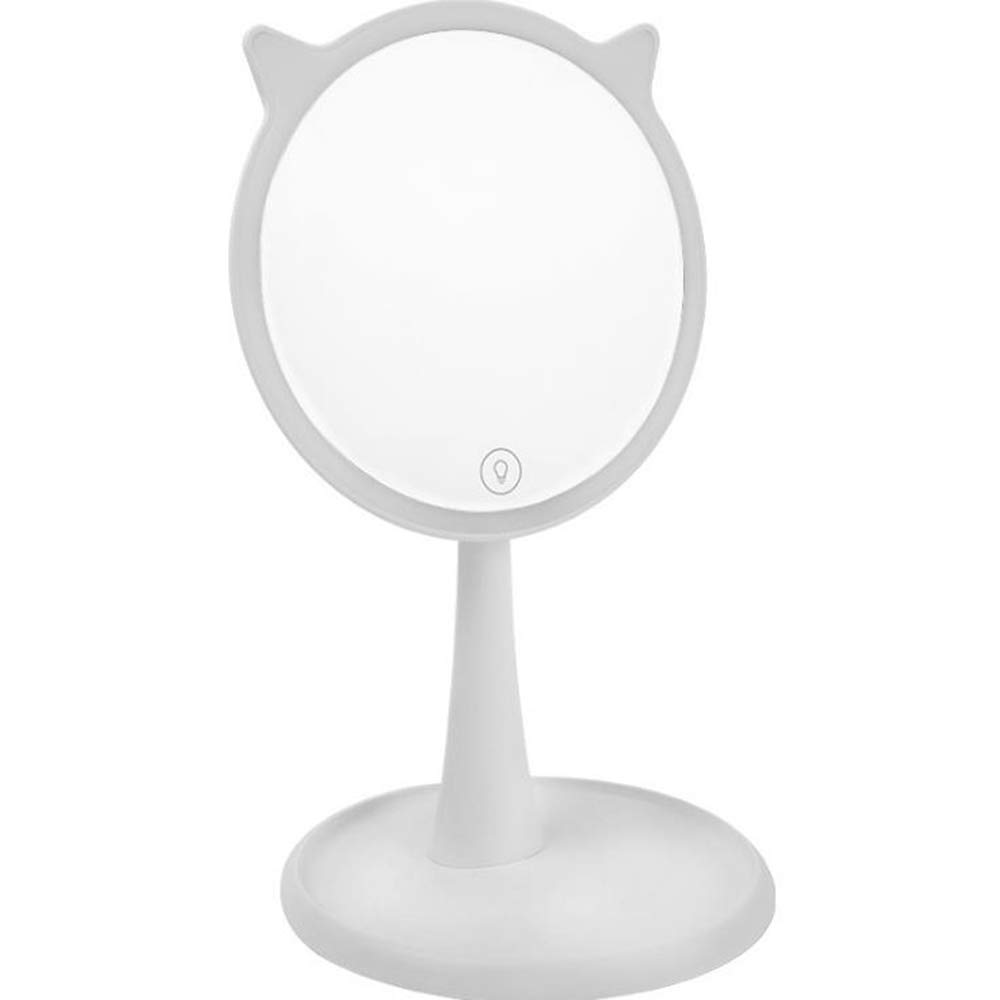 BHXUD LED Light Makeup Mirror Creative Personality Makeup Mirror Girl Cat Ears Dressing Mirror Rechargeable Makeup Mirror