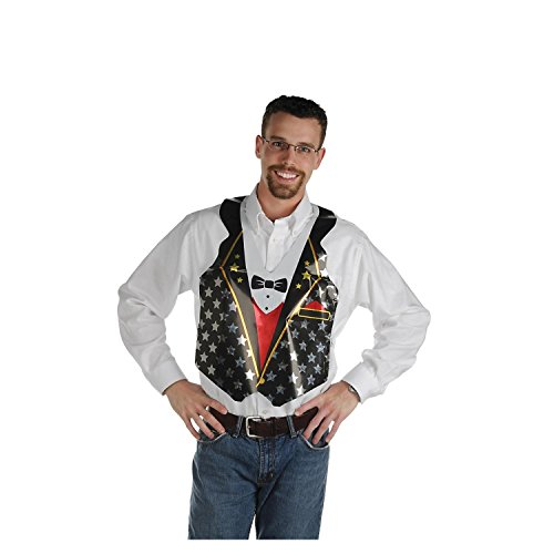 (Club Pack of 24 Prismatic Awards Night Novelty Vest with Tie Straps )