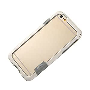 "Elonbo TM White Fashion Cute Modern Design Hybrid TPU PC Frame Case Bumper Cover For 4.7"" iPhone 6"