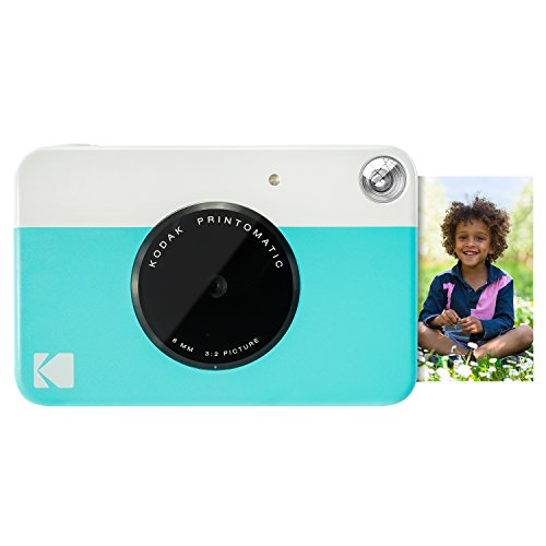 Kodak PRINTOMATIC Digital Instant Print Camera (Blue), Full Color Prints On ZINK 2x3 Sticky-Backed Photo Paper - Print Memories Instantly Print Pictures Photo Paper