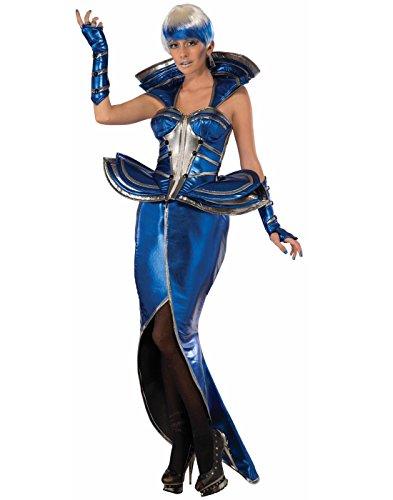 Forum Novelties Women's Cosmic Queen Costume, Blue/Silver, -