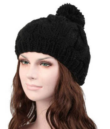S Cloth Black Hot Knit Women Girl Baggy Beanie Oversize Winter Hat Ski Slouchy Chic Cap Skull