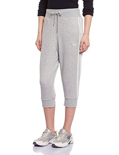 adidas Hose 3/4 Track - Pantalones deportivos para mujer, color gris, talla 36 Gris