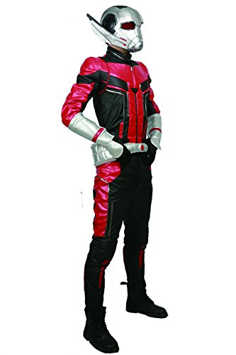 xcoser Ant Man Costume with Helmet Deluxe PU Cosplay Outfit Belt Gloves Full Suit Halloween Custom Made by xcoser