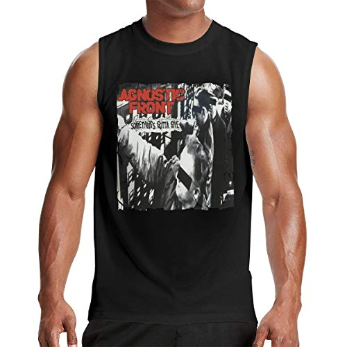 Agnostic Front Something's Gotta Give Casual Round Neck Man Sleeveless T-Shirt XL Black
