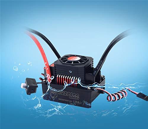 Surpass KK Series Waterproof Brushless 120A ESC Electronic Speed Controller for 1/10 1/8 RC Car