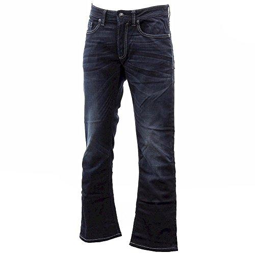 Buffalo David Bitton Men's King Slim Boot Cut Jean in Dark a